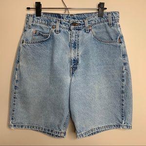 Levi's 550 Orange Tab Light Wash Denim Shorts Jort
